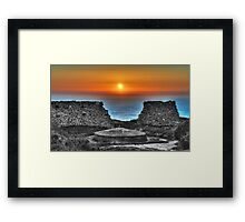 Sunset at Bottallack Mines Framed Print