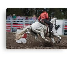 Barrel Racing Canvas Print