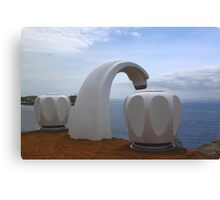 Sculptures by the Sea - Giant Tap Canvas Print
