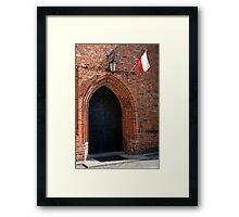 Gothic door. Framed Print