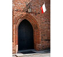 Gothic door. Photographic Print