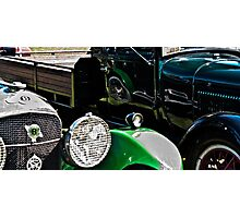 Vintage Green Reflections Photographic Print