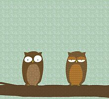 Owl Pattern by surlana