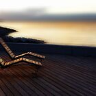 Sunset........The Deckchairs at Lake Geneva..........France by Imi Koetz
