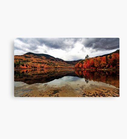 A Reflection of Fall Color - Basin Pond Canvas Print