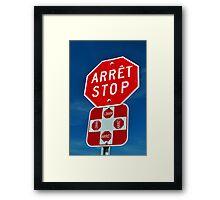 Stop sign. Framed Print