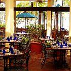 Blue Glass Settings by Deborah Crew-Johnson