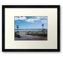 Caves Beach Framed Print