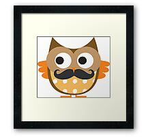 Brown Mustachioed Owl Framed Print