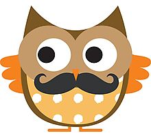 Brown Mustachioed Owl Photographic Print