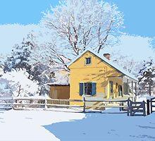 Landis Valley Tin Shop Winter Paint by purplefoxphoto