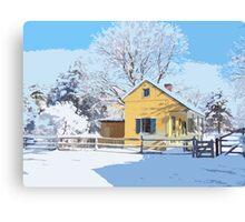 Landis Valley Tin Shop Winter Paint Canvas Print