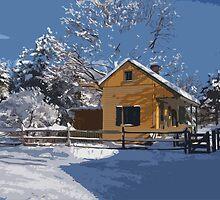 Landis Valley Tin Shop Winter Paint II by purplefoxphoto