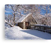 Landis Valley Chicken Coop Winter Canvas Print