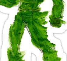 The Green Superhero Sticker