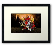 Upgraded Dalek with the robot master Framed Print