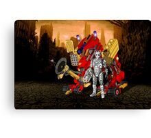 Upgraded Dalek with the robot master Canvas Print