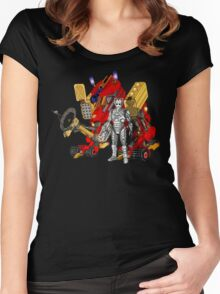 Upgraded Dalek with the robot master Women's Fitted Scoop T-Shirt