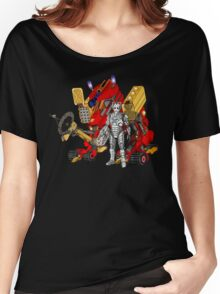 Upgraded Dalek with the robot master Women's Relaxed Fit T-Shirt