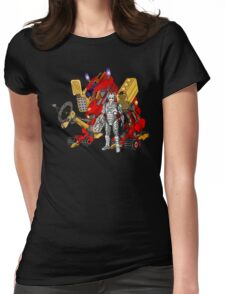 Upgraded Dalek with the robot master Womens Fitted T-Shirt