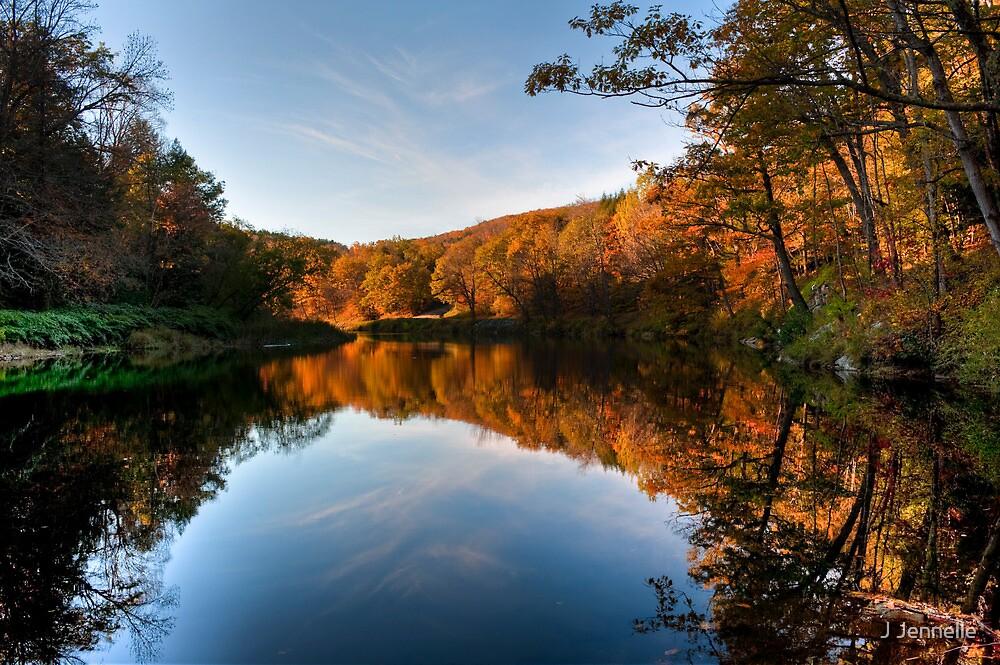Autumnal Riverbank by Joe Jennelle