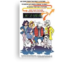 Future Day Halloween Dress up Back to The Future Canvas Print