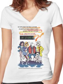 Future Day Halloween Dress up Back to The Future Women's Fitted V-Neck T-Shirt