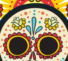 The print of Day of the Dead Sticker