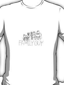 Family Pencil Sketch T-Shirt