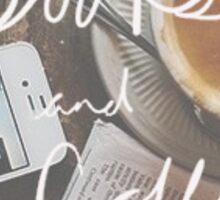 Books and Coffee Sticker