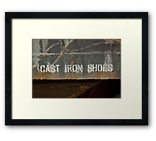 Cast Iron Shoes Framed Print