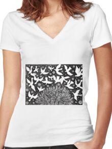 Doves Women's Fitted V-Neck T-Shirt