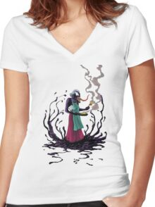 Aunt Venom Women's Fitted V-Neck T-Shirt