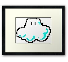 8 Bit Videogame Gamer Cloud Framed Print