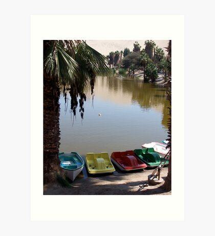 Inland boating Art Print