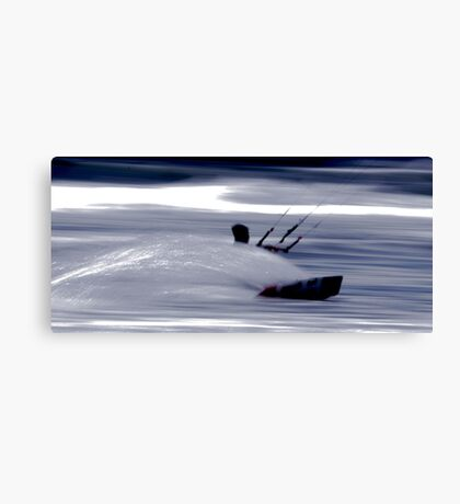 Kitesurfing - Riding the Waves in a Blur of Speed Canvas Print