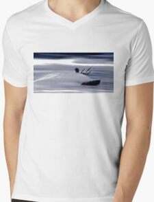Kitesurfing - Riding the Waves in a Blur of Speed Mens V-Neck T-Shirt