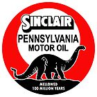 Sinclair Motor Oil vintage sign reproduction. Flat version by htrdesigns