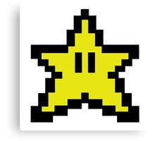 8 bit- Gamer STAR Canvas Print