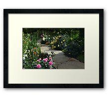 A Favorite Flower Garden Framed Print