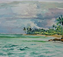 Coconuts Beach Samoa by Peter Johnson