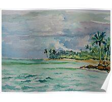 Coconuts Beach Samoa Poster