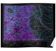 USGS Topo Map Washington State WA Yakima 244827 1958 250000 Inverted Poster