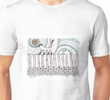 Walking on the fence Unisex T-Shirt