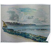 Lagoon - Coconuts Beach Samoa Poster