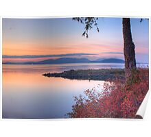 Sunset on Padilla Bay Poster