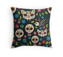 Day of the Dead, a traditional holiday in Mexico.  Throw Pillow