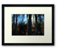Blue Sky, Blocked Sun Framed Print
