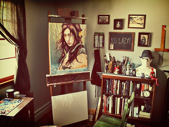 Artist's Studio 2011 by Michael  Shapcott