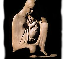 The Virgin Mary with baby Jesus by Cathleen Knutson
